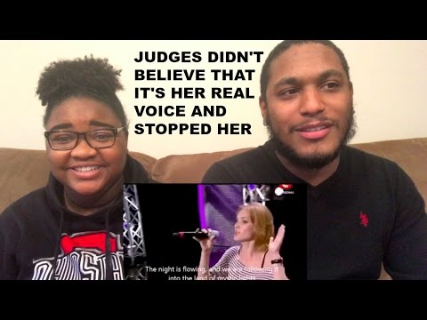 JUDGES DIDN'T BELIEVE THAT IT'S HER REAL VOICE AND STOPPED HER-REACTION VIDEO