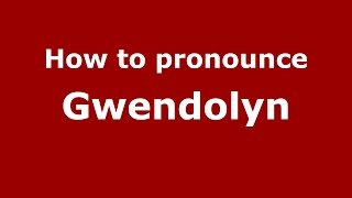 Audio and video pronunciation of Gwendolyn brought to you by Pronounce Names (http://www.PronounceNames.com), a website dedicated to helping people pronounce...