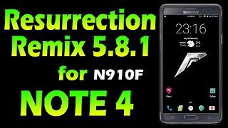 ROM Resurrection Remix 5.8.1 - Nougat 7.1.1 for Samsung Galaxy Note4 Thread on XDA: https://forum.xda-developers.com/note-4/snapdragon-dev/rom-resurrection-r...