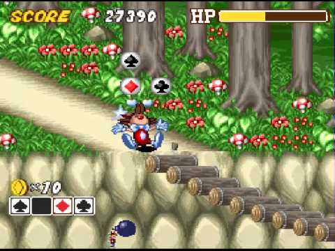 Kid Klown in Crazy Chase Super Nintendo