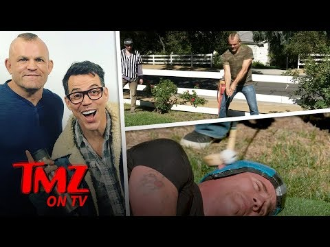 Steve-O Gets Golf Club to Face Courtesy of Chuck Liddell | TMZ TV