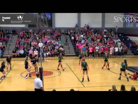 College Park vs. The Woodlands Volleyball Highlights - October 14, 2014