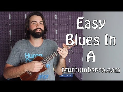 Blues In A - Ukulele Blues Tutorial - Easy Beginner Ukulele Blues