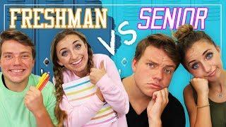 Video Reality of FRESHMAN vs SENIOR Year in High School! MP3, 3GP, MP4, WEBM, AVI, FLV Februari 2018