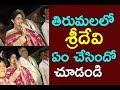 తిరుమలలో శ్రీదేవి  చేసిన పని తెలిస్తే షాకే Actress Sridevi Couple Visits Tirumala Cinema Politics