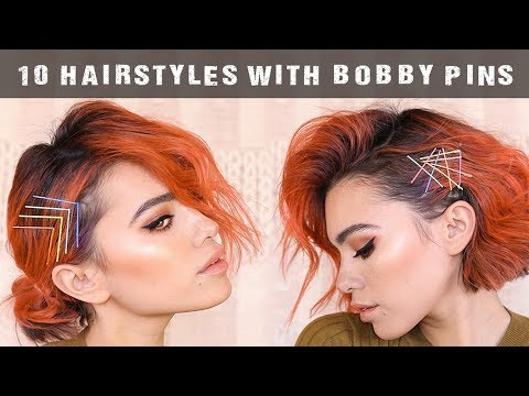 10 easy hairstyles using BOBBY PINS  tutorial