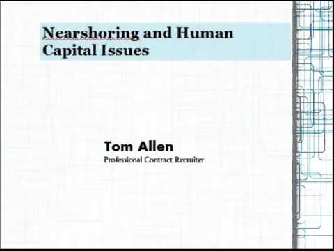 Nearshoring and Human Capital Issues