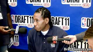Kawhi Leonard - 2011 NBA Draft - Media Day Interview