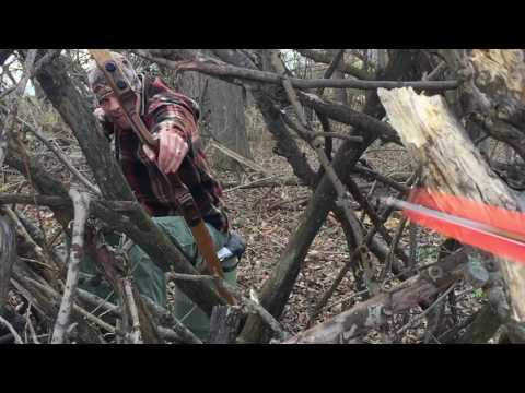 Slow motion video of traditional archers