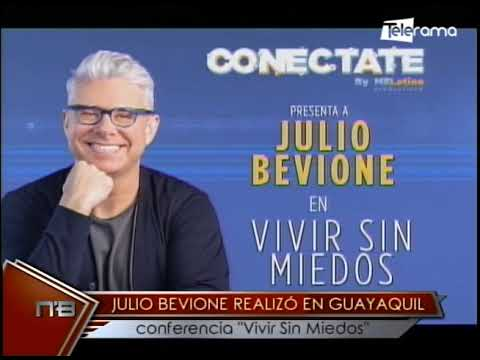 Julio Bevione realizó en Guayaquil conferencia Vivir Sin Miedos