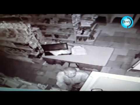 EXCLUSIVO - Ladrão boêmio furta bar em Jales, bebe vinho é filmado pelas câmeras.