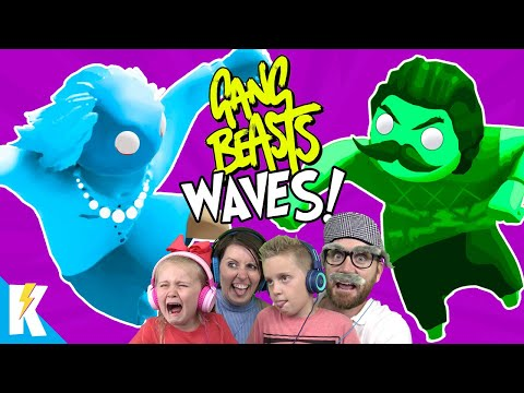 GANG BEASTS WAVES Family Battle with NEIGHBOR and GRANNY | KIDCITY GAMING