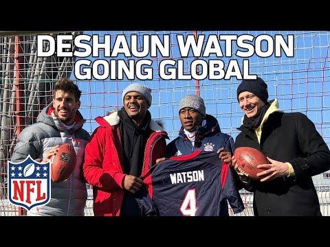 Video: Deshaun Watson Hangs with FC Bayern & Fans in Germany | Going Global to Munich ✈️