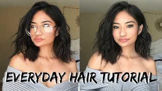 How To Curl Short Hair // Simple Beach Waves