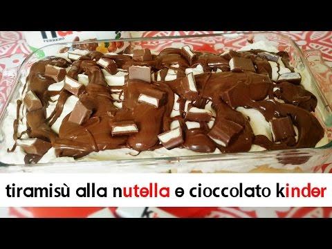 tiramisù alla nutella e cioccolato kinder - ricetta