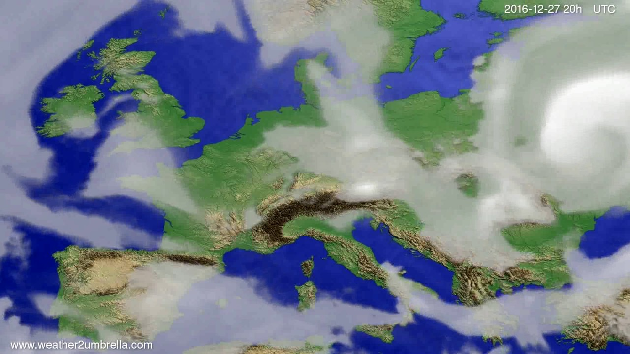 Cloud forecast Europe 2016-12-25
