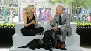 Talk Stoop Taxi Take: The renowned journalist and host introduces the Today Show pup, Charlie, and talks about his duties as a vet dog.