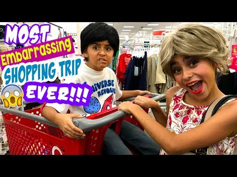 Embarrassing Shopping Trip Skits - Miss Mom Vlogs : Sketch Comedy // GEM Sisters