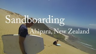 Ahipara New Zealand  city pictures gallery : GoPro: Sandboarding on the highest sand dune in New Zealand