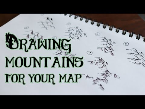 Drawing Mountains - 7 Styles for Maps