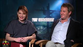PET SEMATARY interview with Amy Seimetz & Jason Clarke