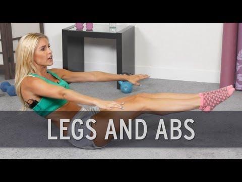 Antrenament in circuit pentru picioare si abdomen