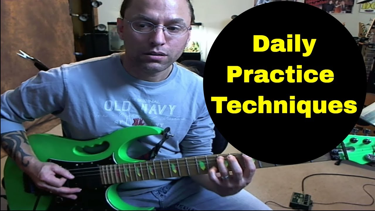 Guitar Lesson – Fundamental daily practice techniques for electric guitar