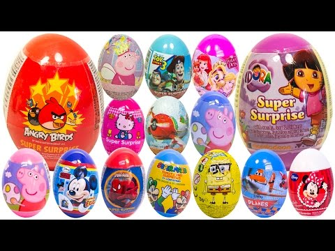 surprise - Awesome Surprise Eggs with Dora The Explorer, Angry Birds, Peppa Pig, Mickey Mouse, Minnie Mouse, Masha and the Bear, Pocoyo, Spider-Man, Marvel Heroes, Hello Kitty, Frozen, Disney Princess,...
