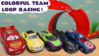 Video Hot Wheels Cars 3 Learn Colors Loop Race with Disney Pixar McQueen and Marvel Avengers 4 Superheroes MP3, 3GP, MP4, WEBM, AVI, FLV Januari 2019