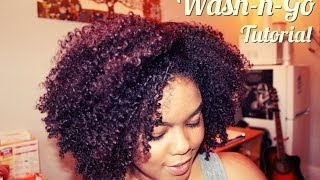 Natural Hair | The Wash n Go!! - YouTube