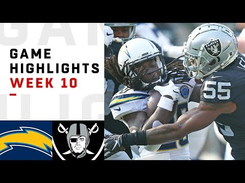 Chargers vs. Raiders Week 10 Highlights | NFL 2018