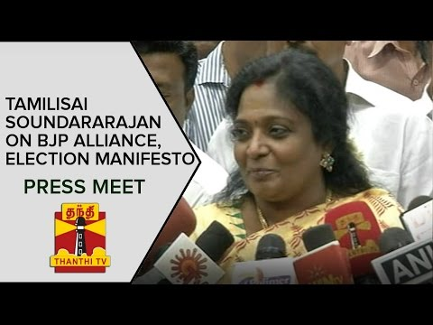 Tamilisai-Soundararajan-on-BJP-Alliance-and-Election-Manifesto-Press-Meet--Thanthi-TV