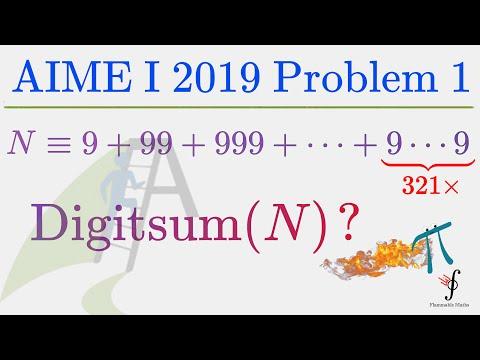 PyMath #4 - The Curious 2019 AIME 1 Problem 1 Exercise!
