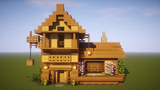 Minecraft: How to Build a Mining House Tutorial (Plus Interior and Garden)