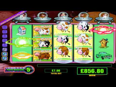 £1,009.40 SUPER BIG WIN (144 X STAKE)INVADERS OF THE PLANET MOOLAH™ ONLINE SLOTS AT JACKPOT PARTY