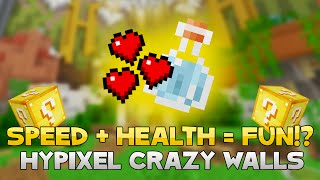 SPEED + HEALTH = FUN TIMES! ( Hypixel Crazy Walls )