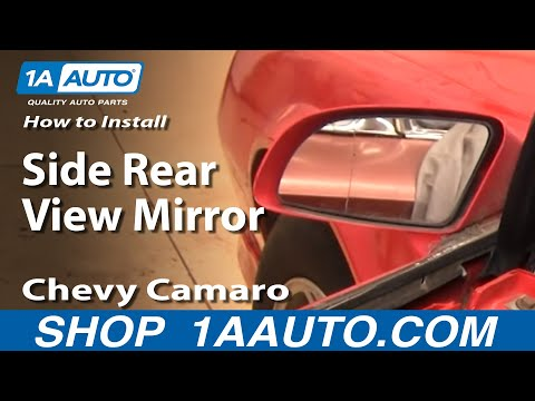 How To Install Remove Side Rear View Mirror 82-92 Chevy Camaro IROC-Z Pontiac Trans Am 1AAuto.com