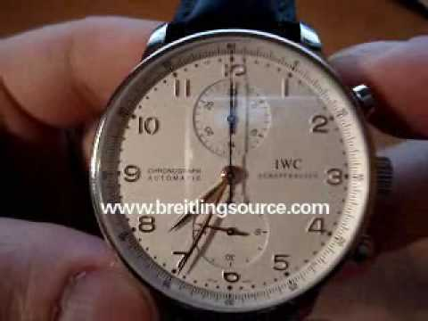 iwc portugieser - http://www.breitlingsource.com - Beautiful IWC Portuguese Chronograph Watch Video Review.