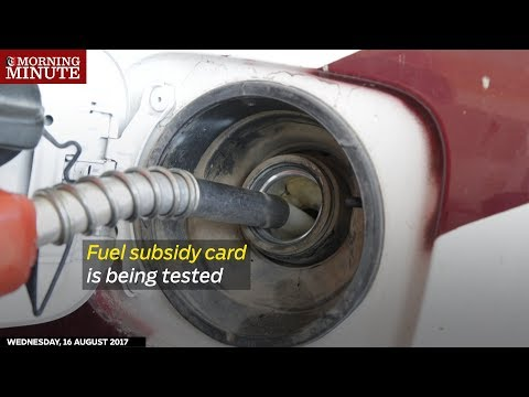Testing of a fuel subsidy card system in Oman is underway