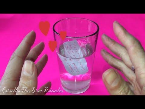 Pensamientos de amor - Amarre EFECTIVO con agua para enamorar