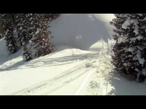Hero Go Pro HD Helmet Cam Snowmobiling back country Utah Noblets 1/30/ ...