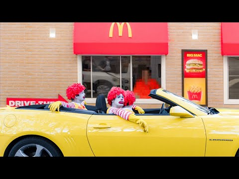 Going Through Drive Thru As Ronald McDonald (Drive Thru Challenge)