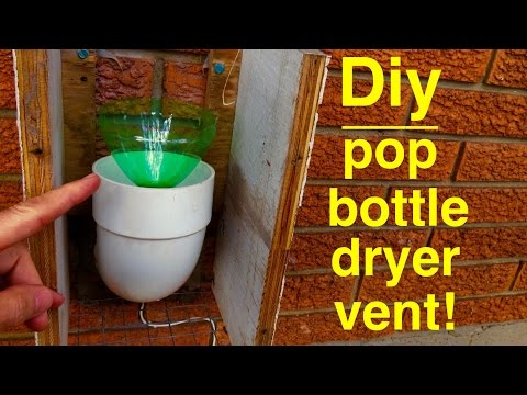 How to Make ● SODA BOTTLE DRYER VENT ● Seals out cold 100%