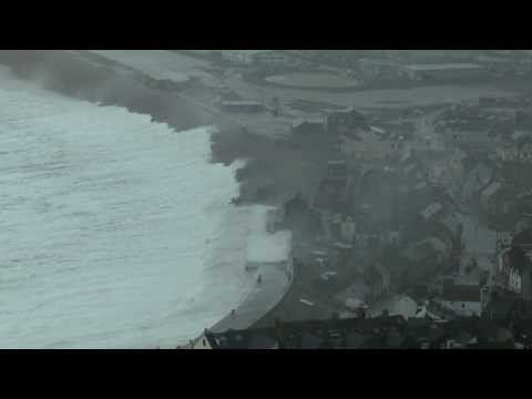 storm - Chesil Beach, Portland suffers its greatest storm for 35 years. It is frightening, dramatic and spectacular, but the 50 years old sea wall and the flood defe...