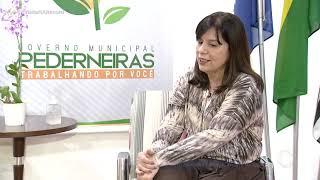Visita Na Record - Entrevista Com a Prefeita de Pederneiras - Ivana M. Bertolini - 09/05/2021
