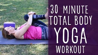 Video 30 Minute Vinyasa Yoga Total Body Workout with Fightmaster Yoga MP3, 3GP, MP4, WEBM, AVI, FLV Maret 2018