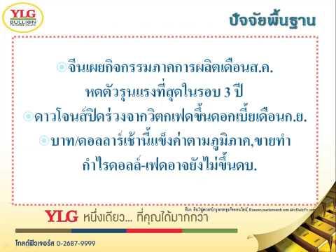 YLG บทวิเคราะห์ราคาทองคำประจำวัน 01-09-15