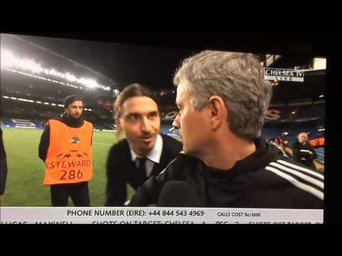 Ibrahimovic wishes Mourinho good luck in the Champions leaugue