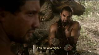 Mago objects to Daenerys intervening and denying the Dothraki to take their share of the Lhazareen women as spoils of war.