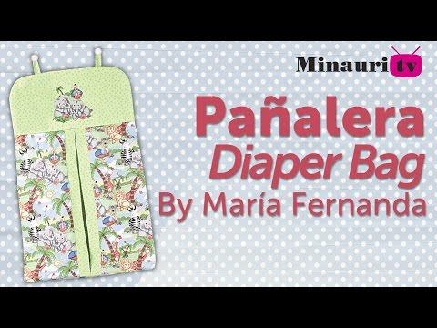 Pañalera Minauri Nro 7 Lencería Proyecto Nro 24 ( Easy how to make diaper bag )
